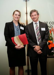Craig Taylor pictured with Sian Blakemore at the recent awards ceremony.
